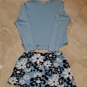 TAIL Tennis Outfit - Top Medium - Skirt Large